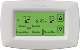 honeywell rth7600d 7 day touchscreen thermostat review rh thermostatcenter com  honeywell rth7400d thermostat operating manual