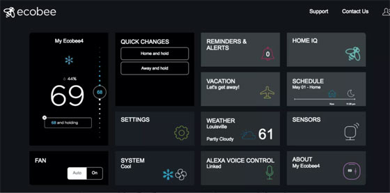 ecobee's interface