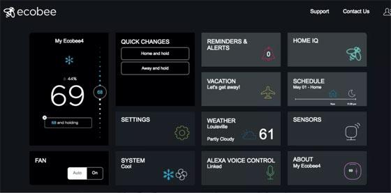 ecobee's interface