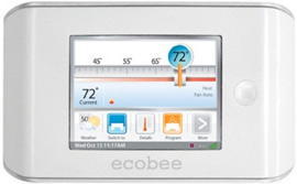 ecobee Thermostat with Full Color Touch Screen